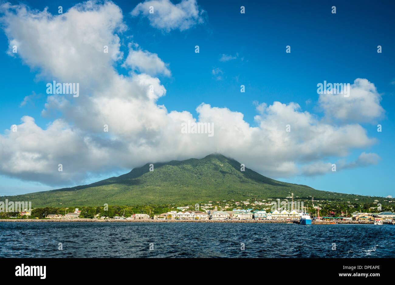 Nevis, Niederländische Antillen Stockbild