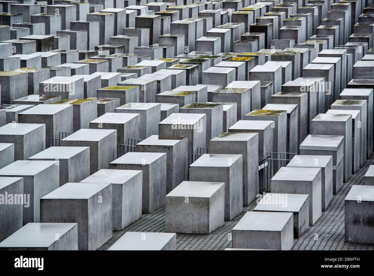 Holocaust-Mahnmal in Berlin, Deutschland. Stockbild