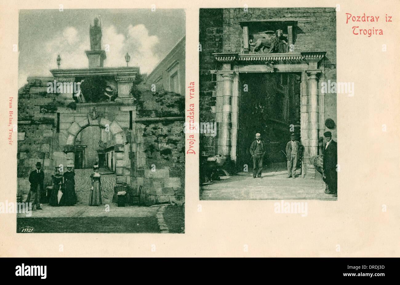 Trogir - venezianischen Gateways Stockbild