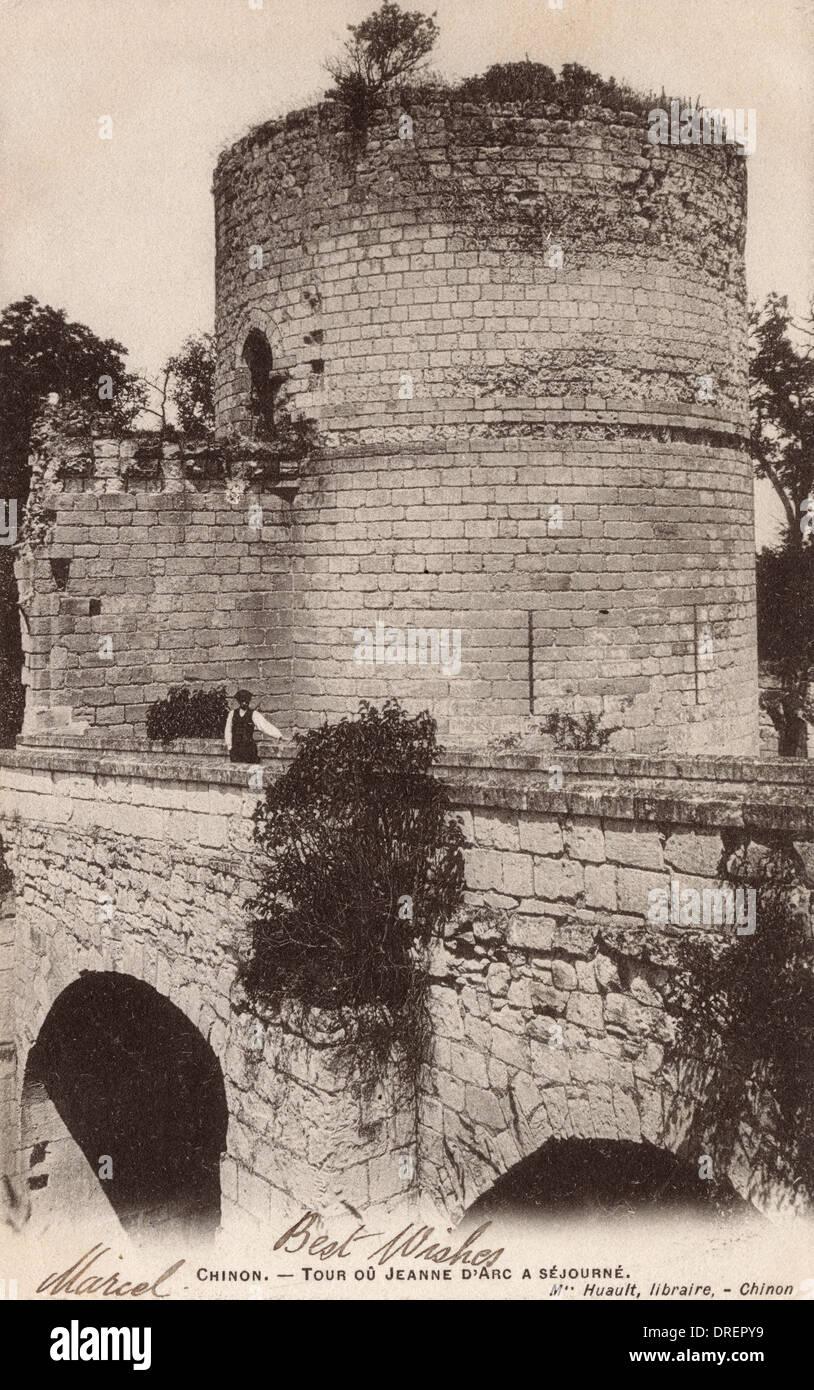 Turm von Jeanne d ' Arc in Chinon Stockbild
