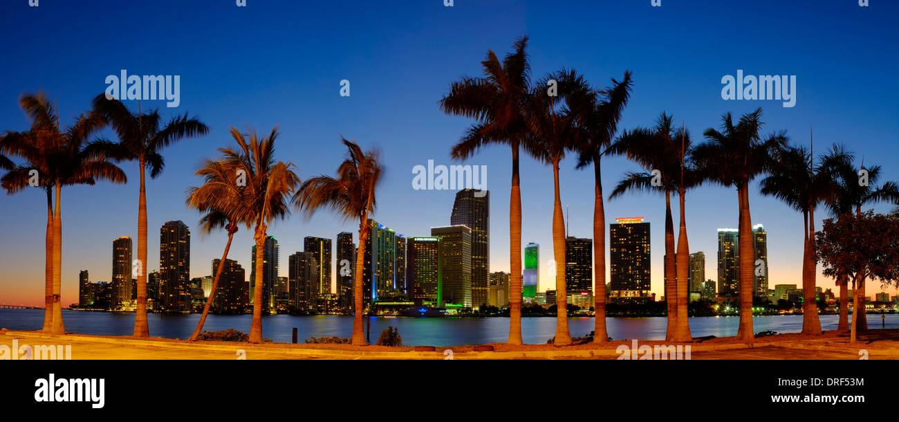 Miami finanzielle Skyline, Florida, USA Stockbild