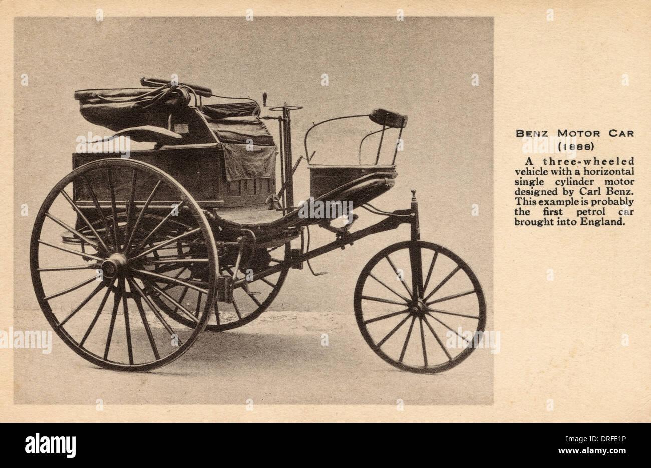 Benz Motorwagen von 1888 Stockbild