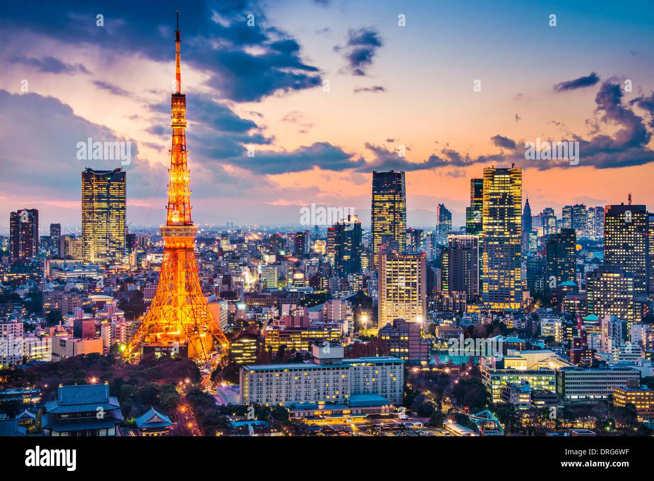 Tokyo, Japan im Tokyo Tower Stockbild