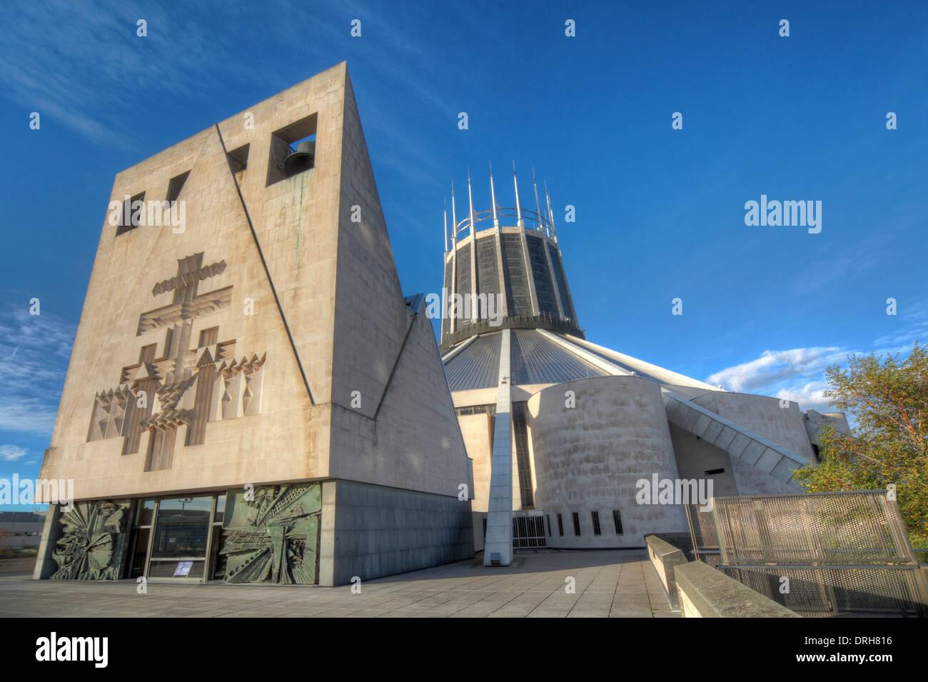 Laden Sie dieses Alamy Stockfoto Liverpool katholische Kathedrale von Christus dem König, England UK - DRH816