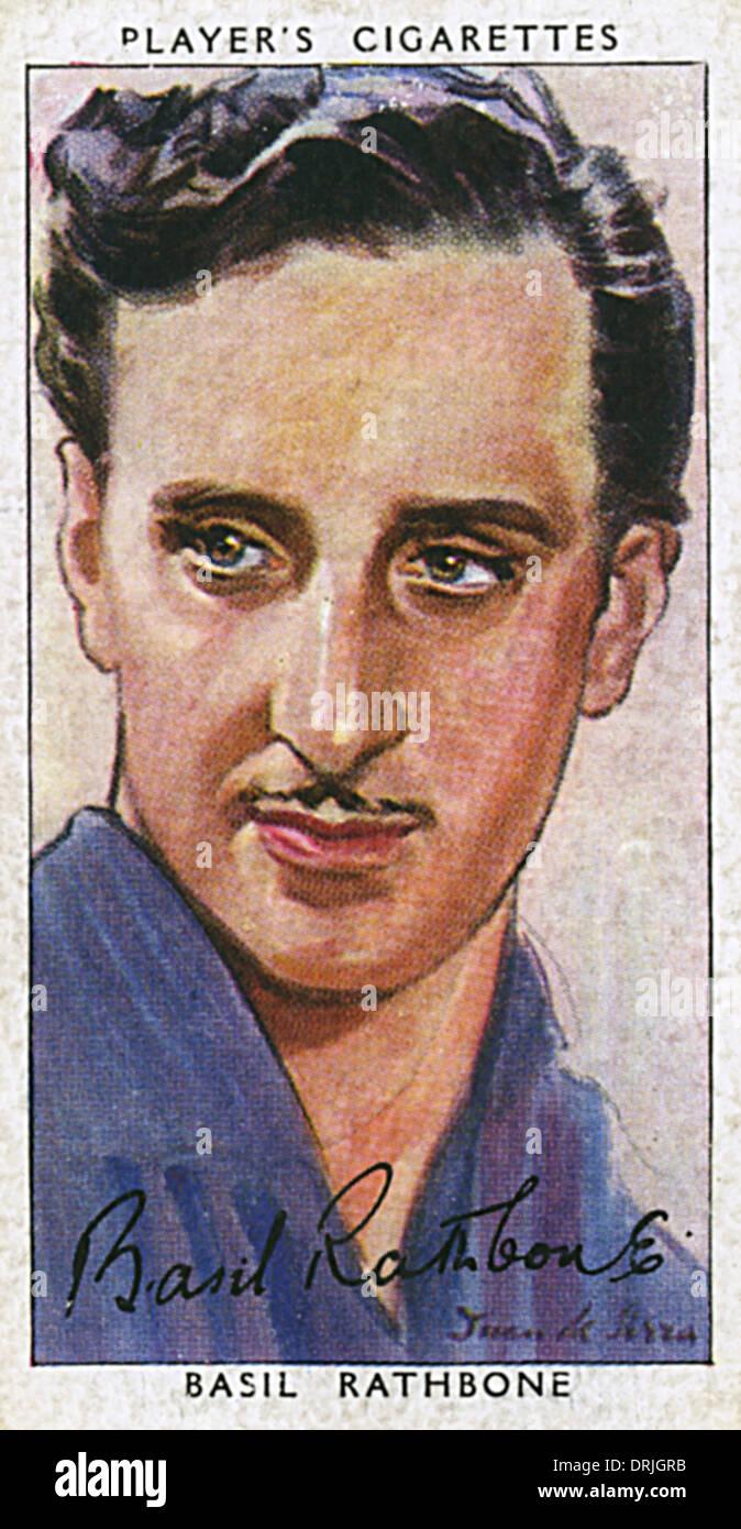 Basil Rathbone, britischer Film und Theaterschauspieler Stockbild