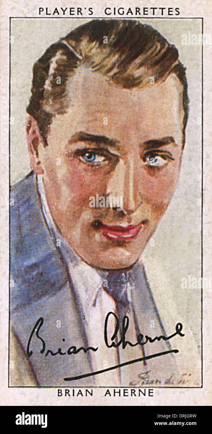 Brian Aherne, britischer Schauspieler Stockbild