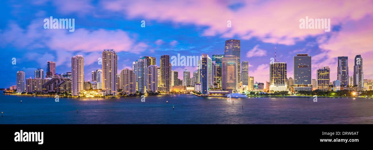 Miami, Florida, USA Skyline Panorama. Stockbild