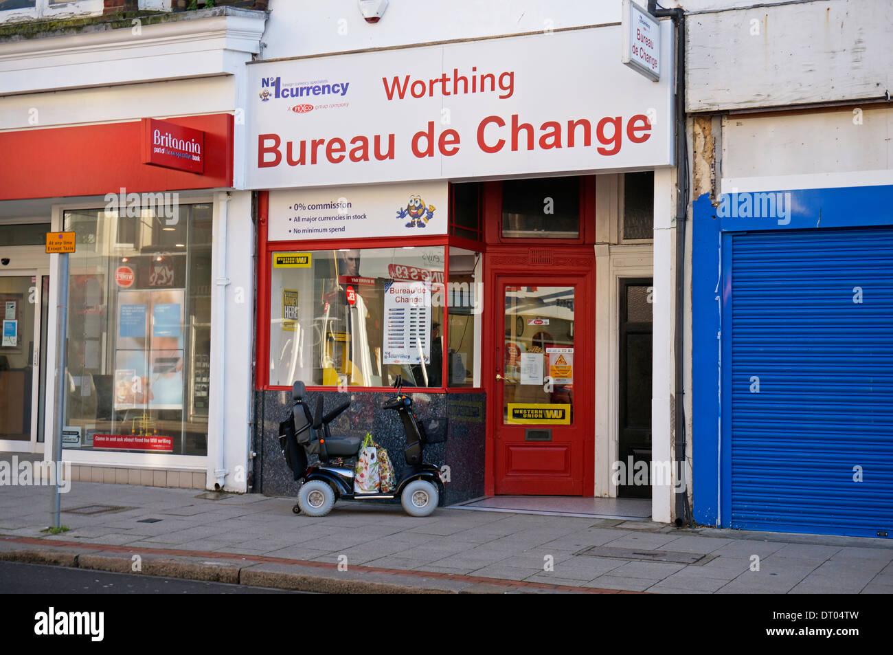 Geldwechsel stand büro cambio bureau de change terminal