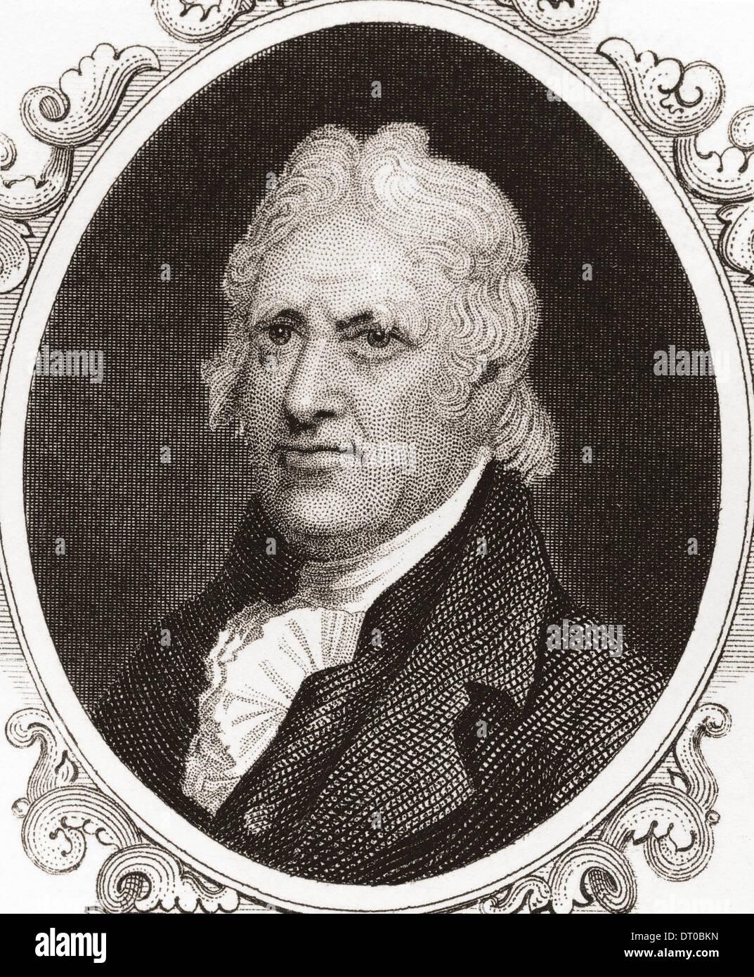 George Clinton, 1739 ? 1812. US-Soldat und Staatsmann, einer der Gründerväter der Vereinigten Staaten Stockbild