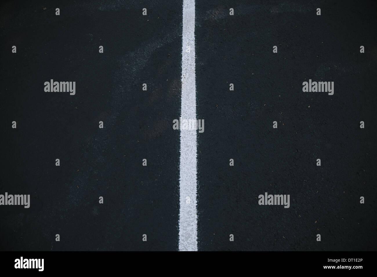 Washington State USA weiß Mittellinie auf schwarze Asphaltdecke Stockbild