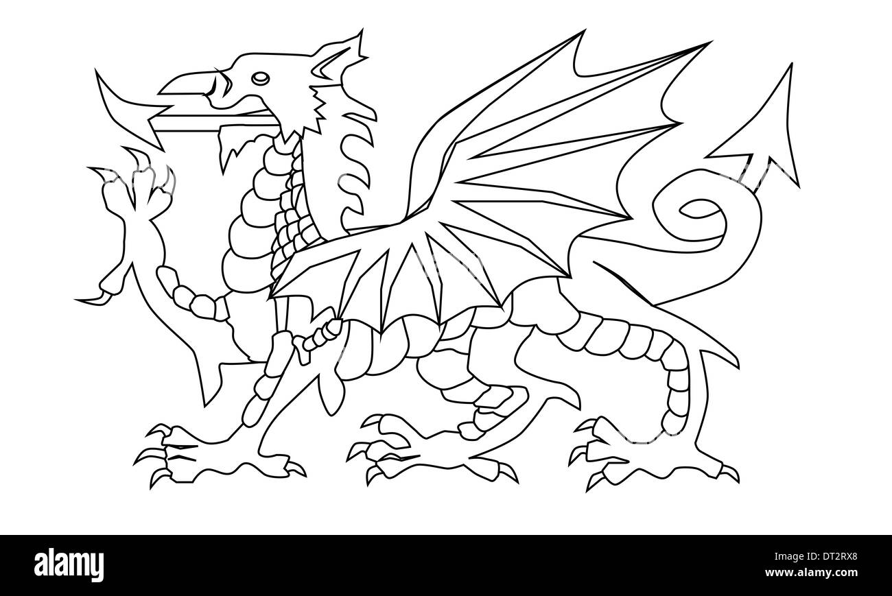 welsh dragon illustration stockfotos welsh dragon illustration bilder alamy. Black Bedroom Furniture Sets. Home Design Ideas