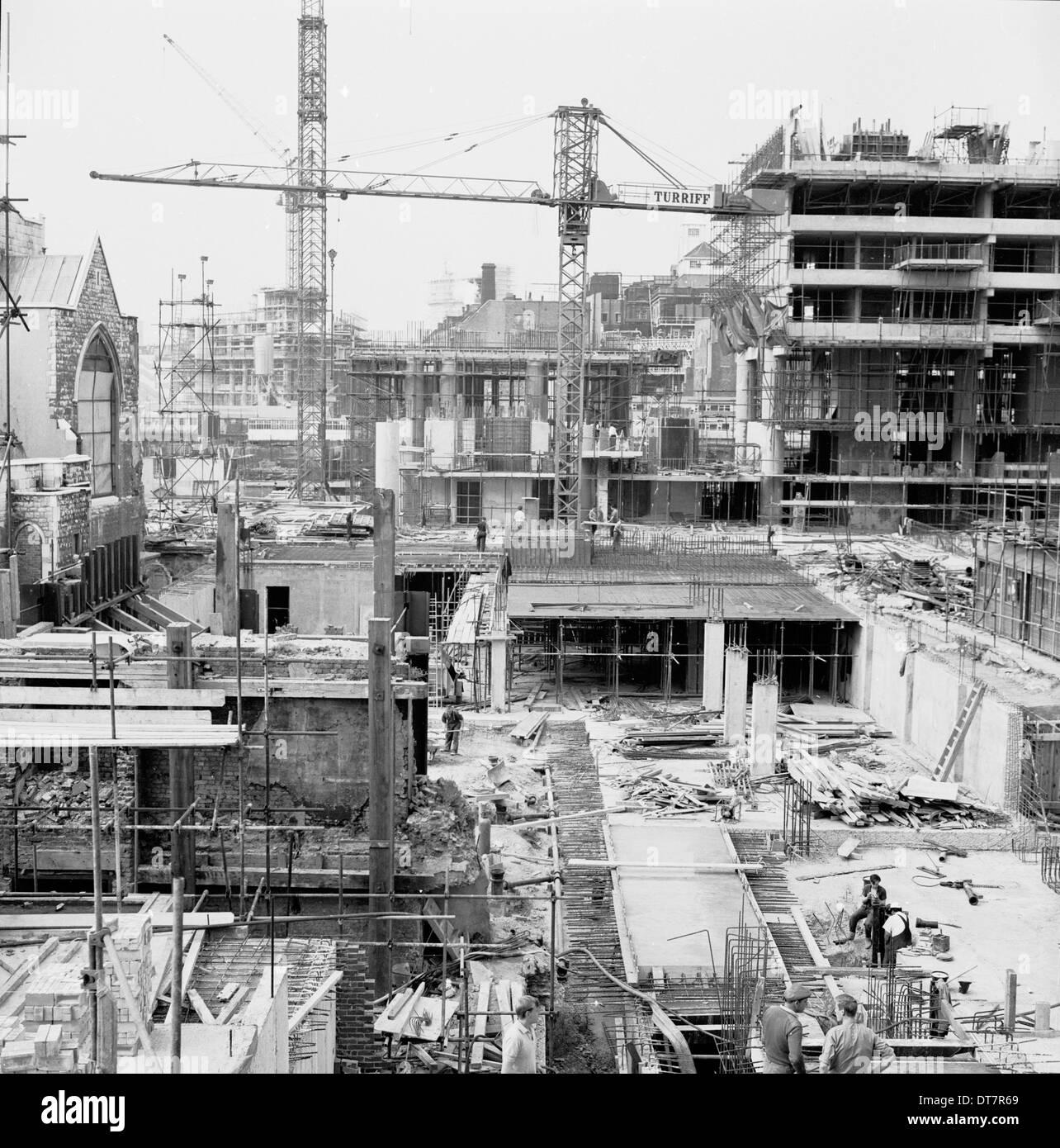 der 1950er Jahre, Baustelle, London. Stockbild