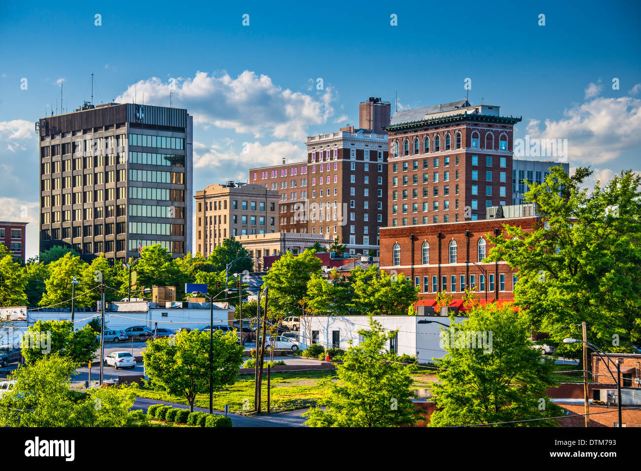 Greenville, South Carolina, USA Innenstadt von Gebäuden. Stockbild