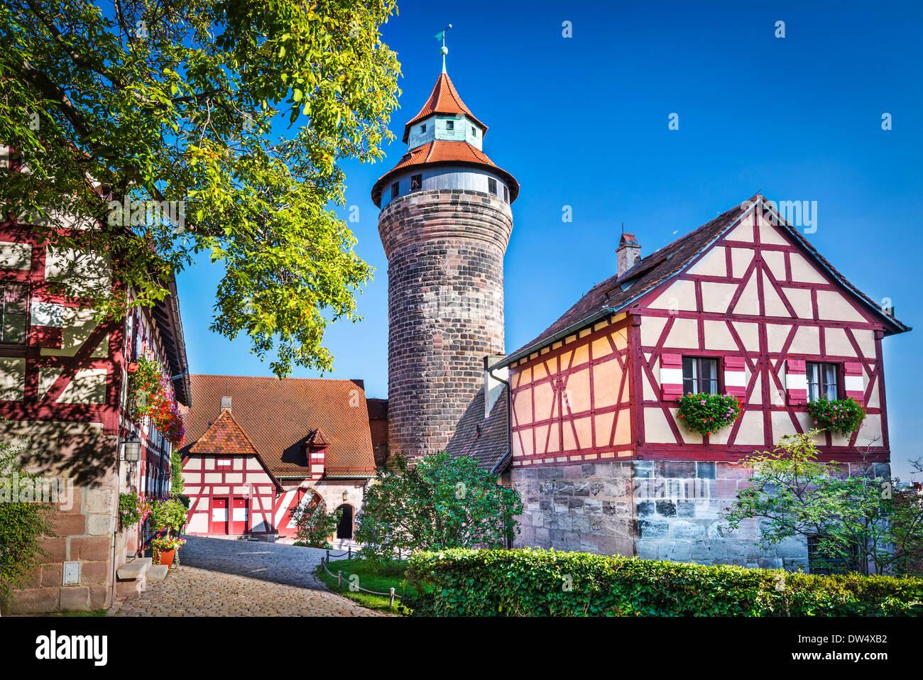 Nürnberger Burg in Nürnberg. Stockbild