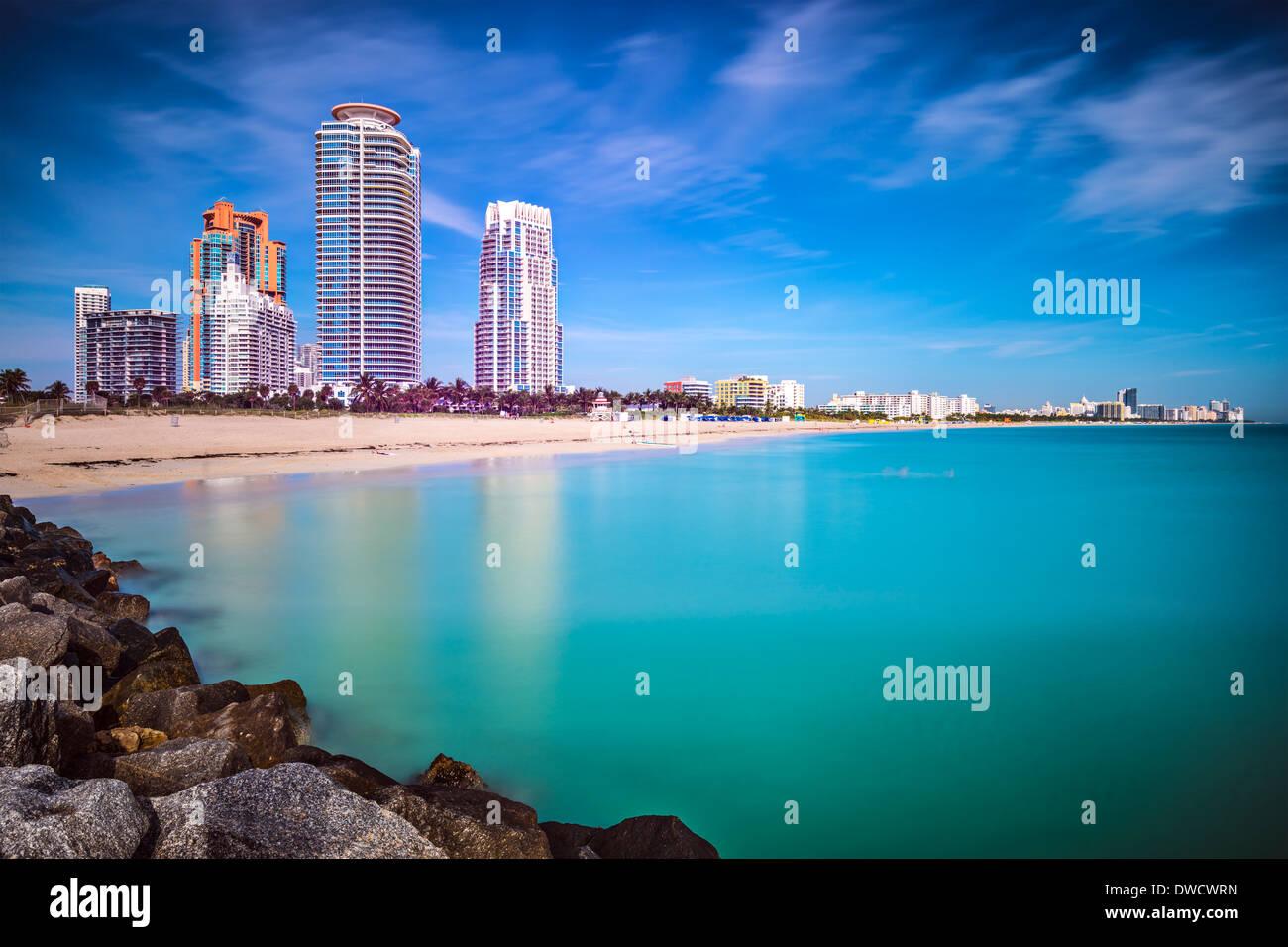 Miami Beach, Florida, Stadtbild Stockbild