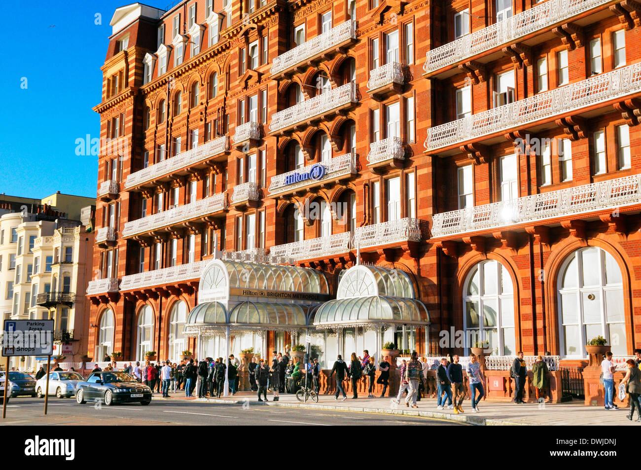 Hilton Brighton Metropole Hotel, Kings Road, Brighton, East Sussex, England, UK Stockbild