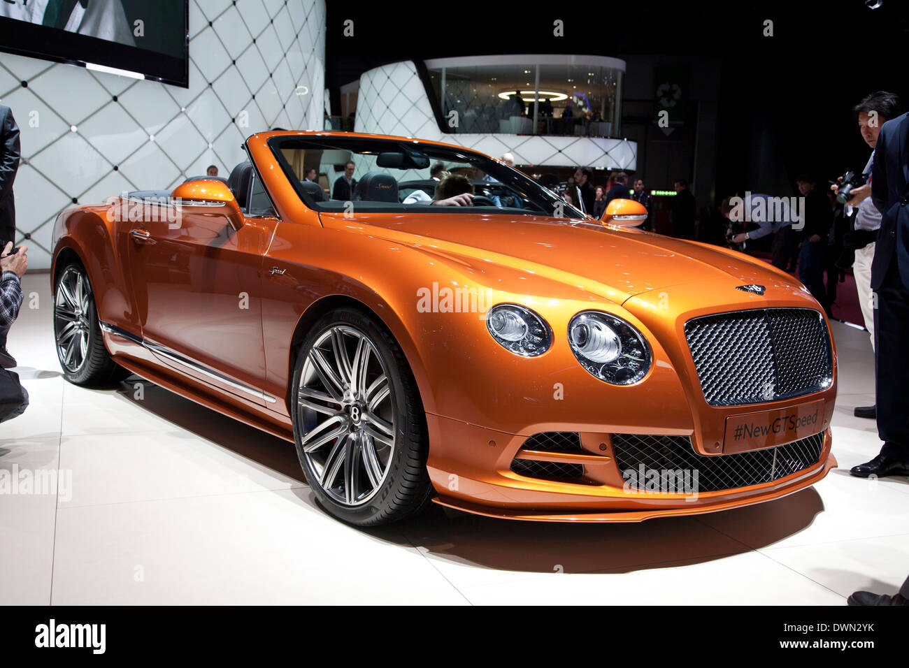 Bentley neue Continental GT Speed auf der 84. Genfer Internationalen Automobilausstellung 2014. Stockbild