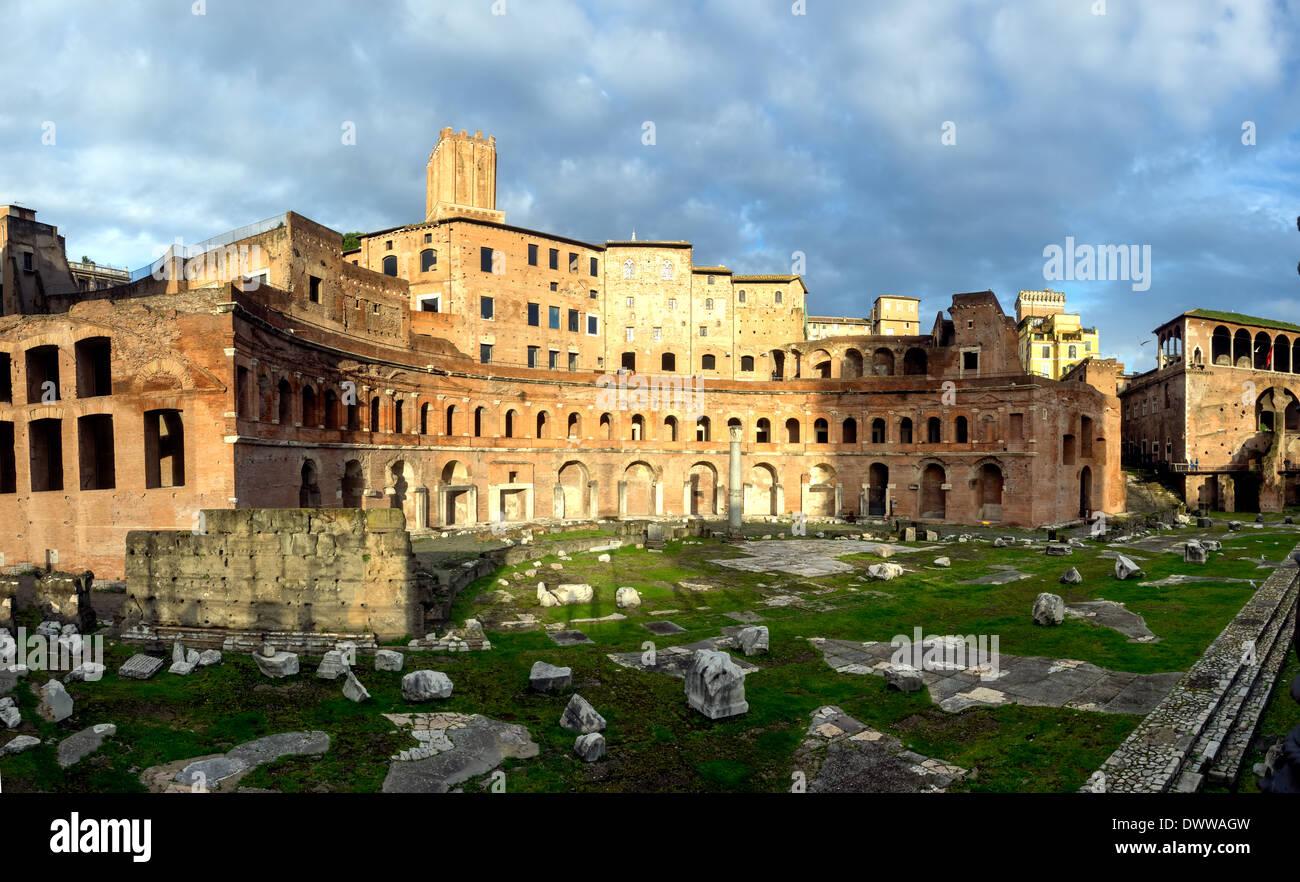 Trajan-Forum-Markt in Rom, Italien Stockbild