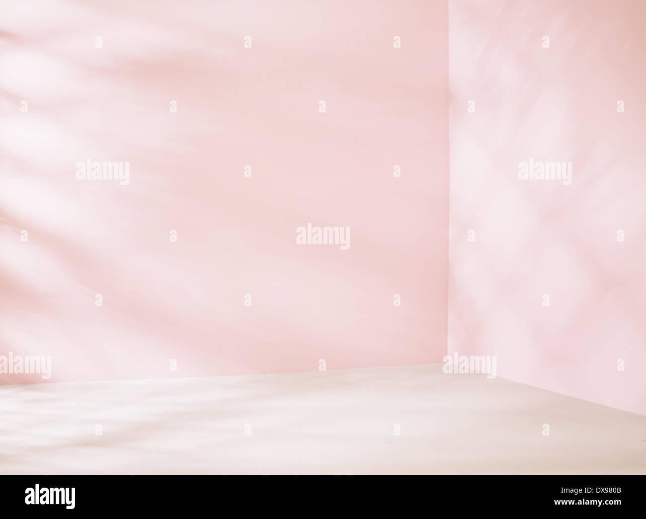 Kleinen leeren Platz in rosa Farbton Stockbild