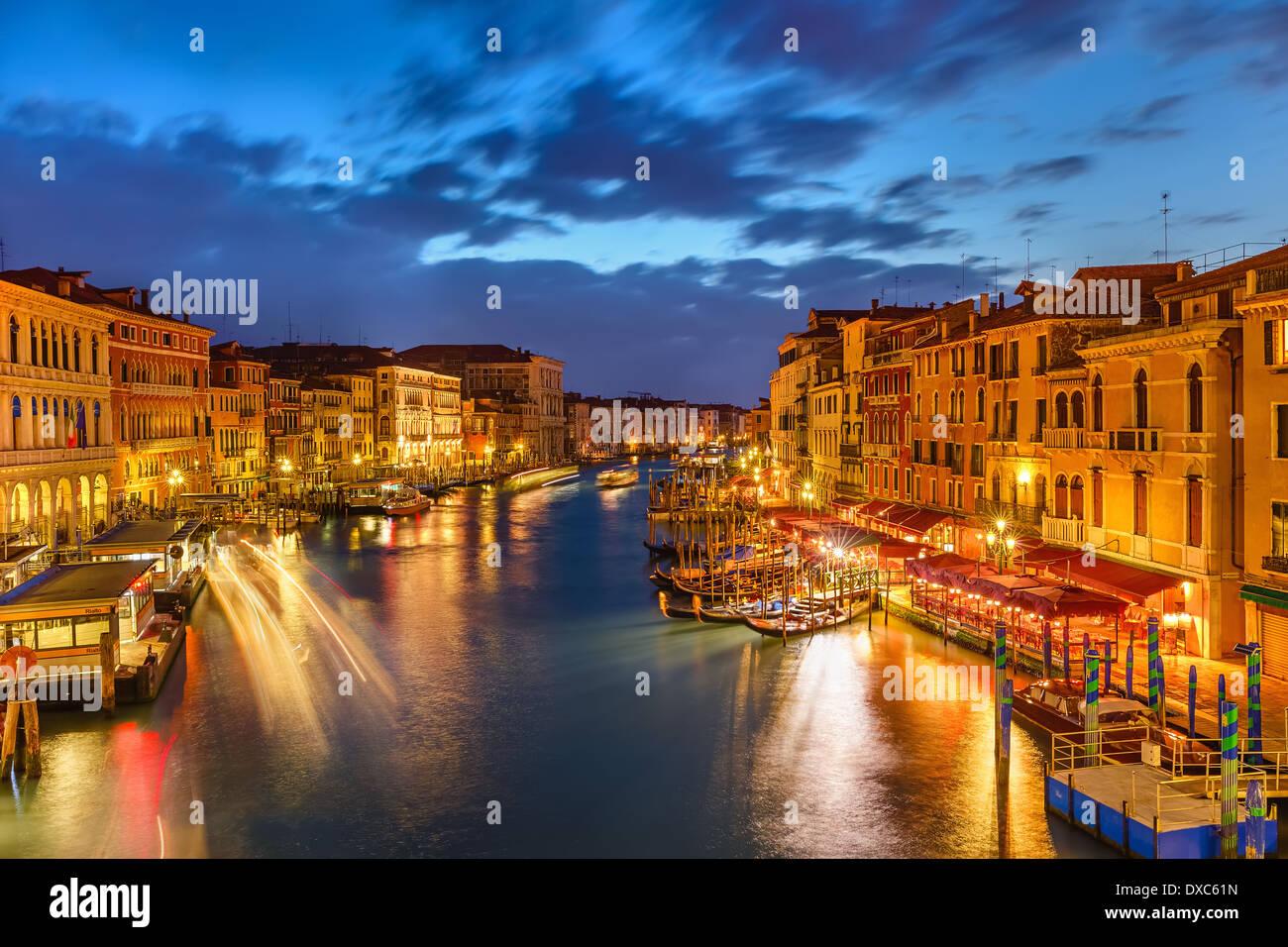 Venedig bei Nacht Stockbild