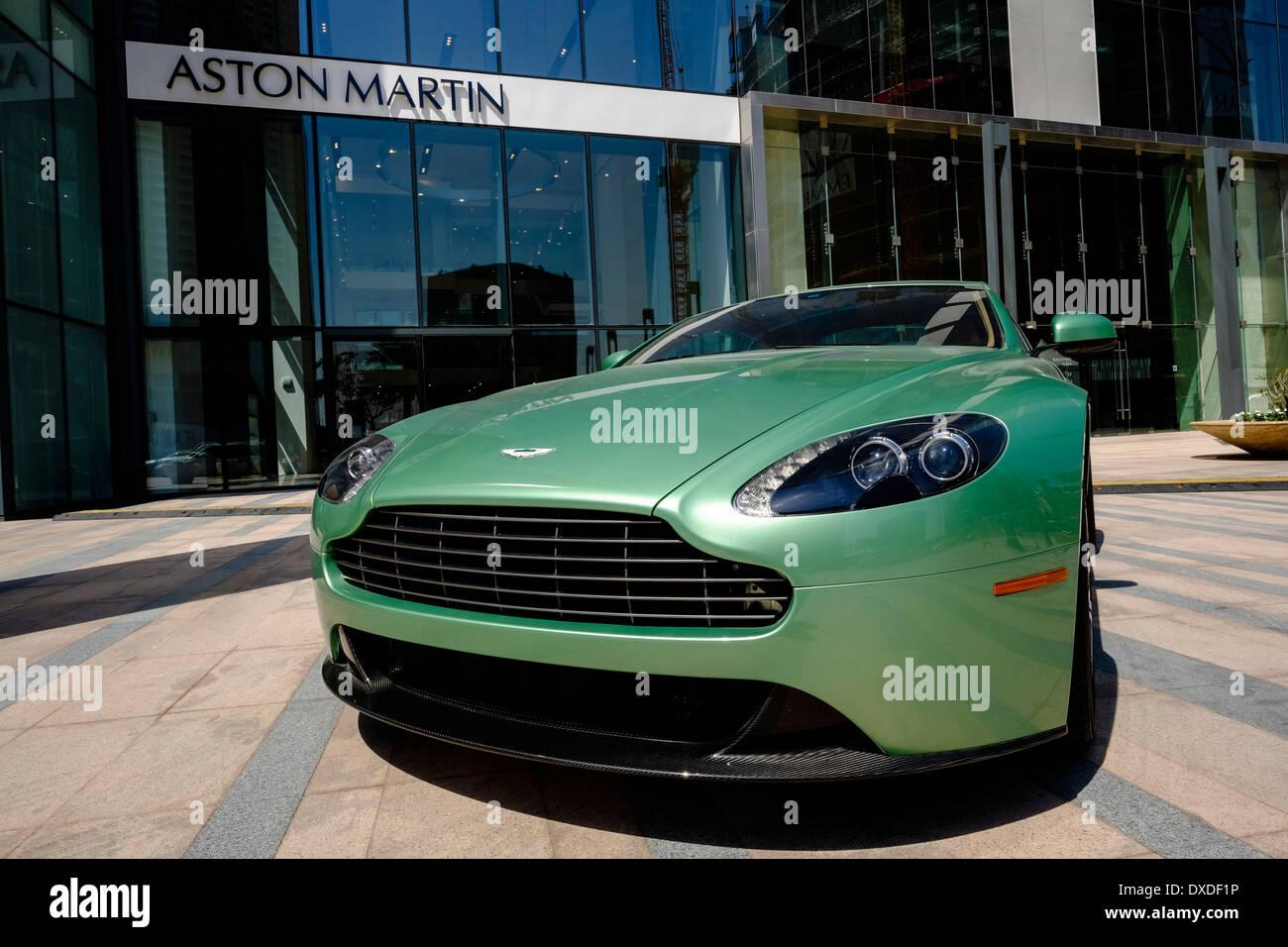 Showroom von Aston Martin Luxusautos in Dubai Vereinigte Arabische Emirate Stockbild