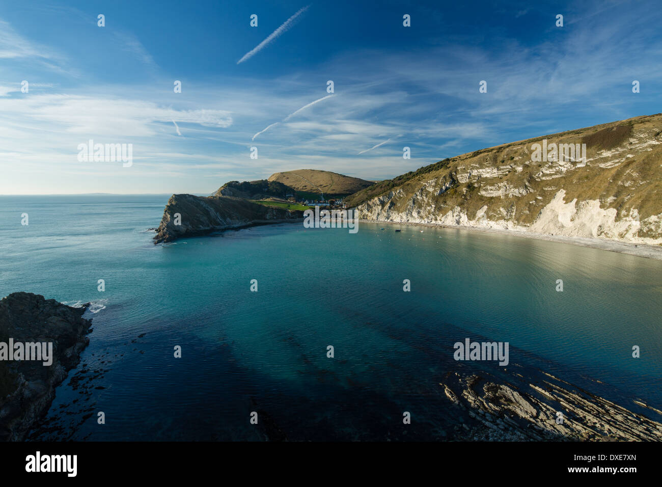 Lulworth Cove, Jurassic Coast, Dorset, England Stockbild