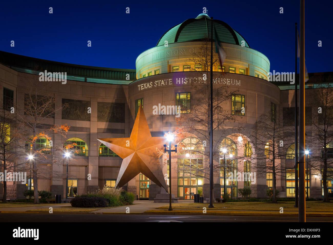 Die Bullock Texas State History Museum, in der Innenstadt von Austin, Texas Stockbild