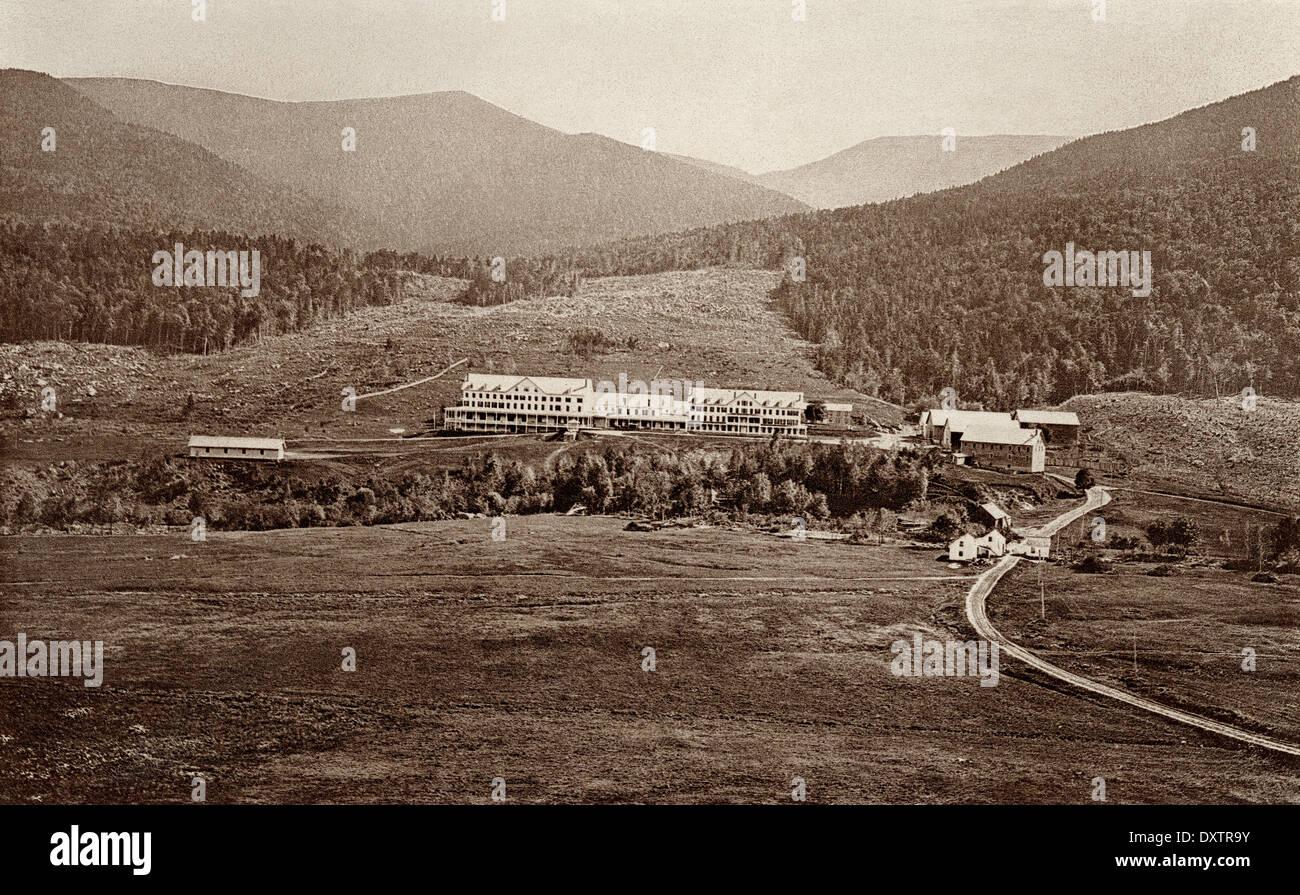 Glen House, ein Resort in Pinkham Kerbe der White Mountains, New Hampshire, der 1870er Jahre. Stockbild