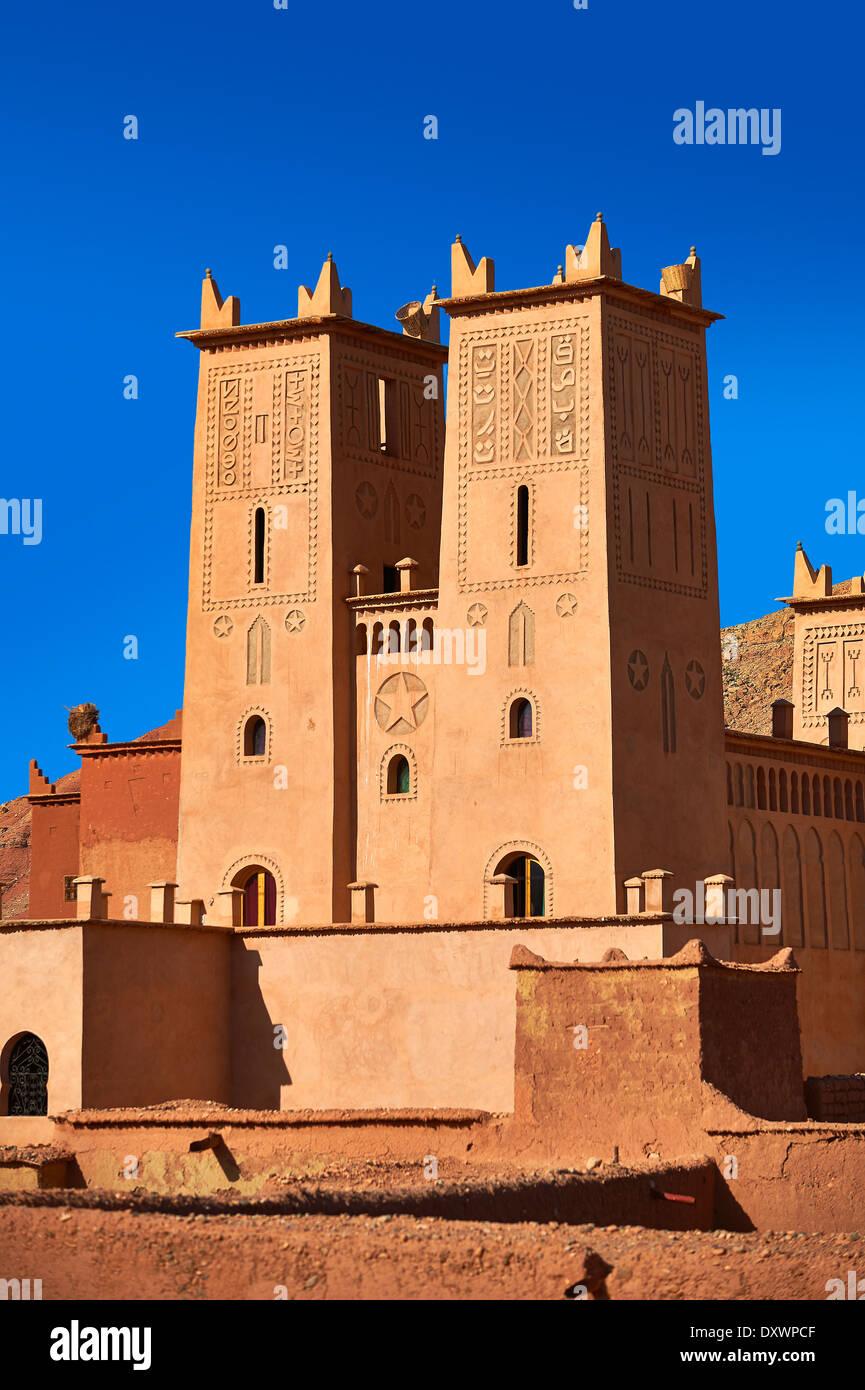 Kasbah von Tamedaght in das Ounilla Tal am Fuße des Altas Berge, Marokko Stockbild