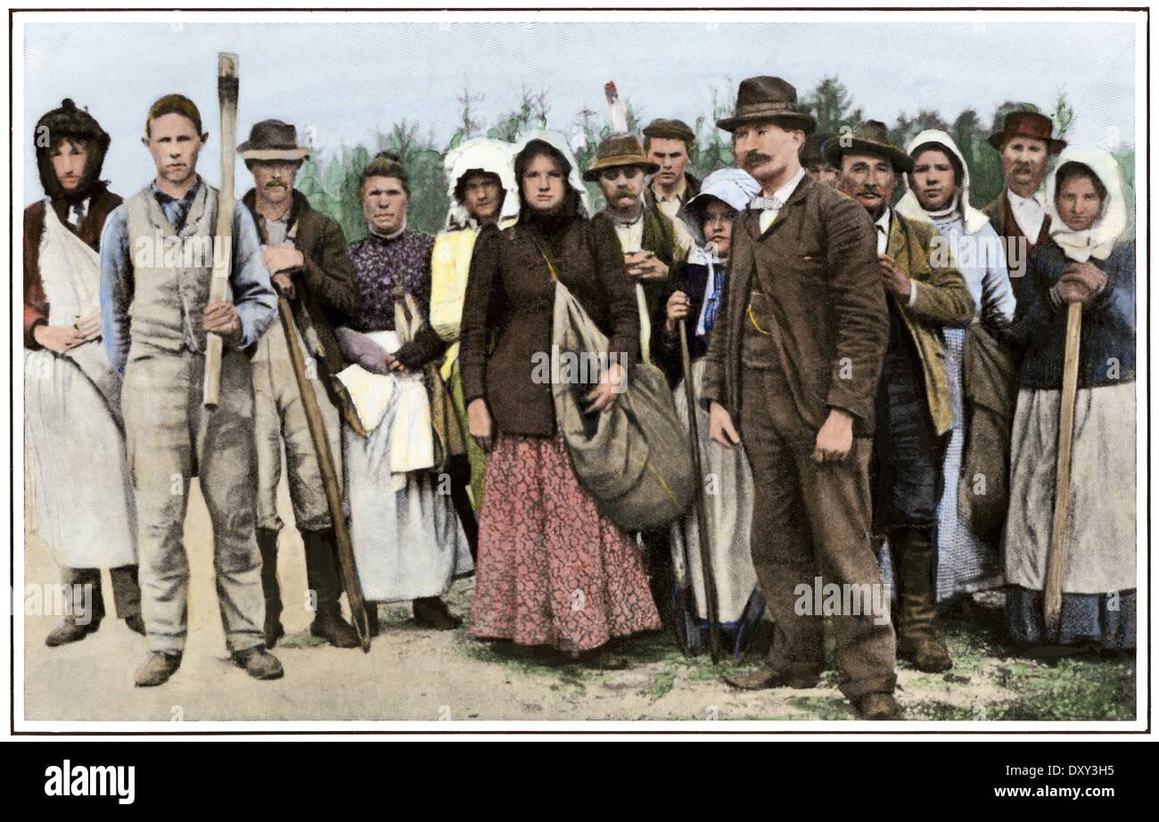 Personengruppe typische Piney Woods in New Jersey, um 1900. Stockbild