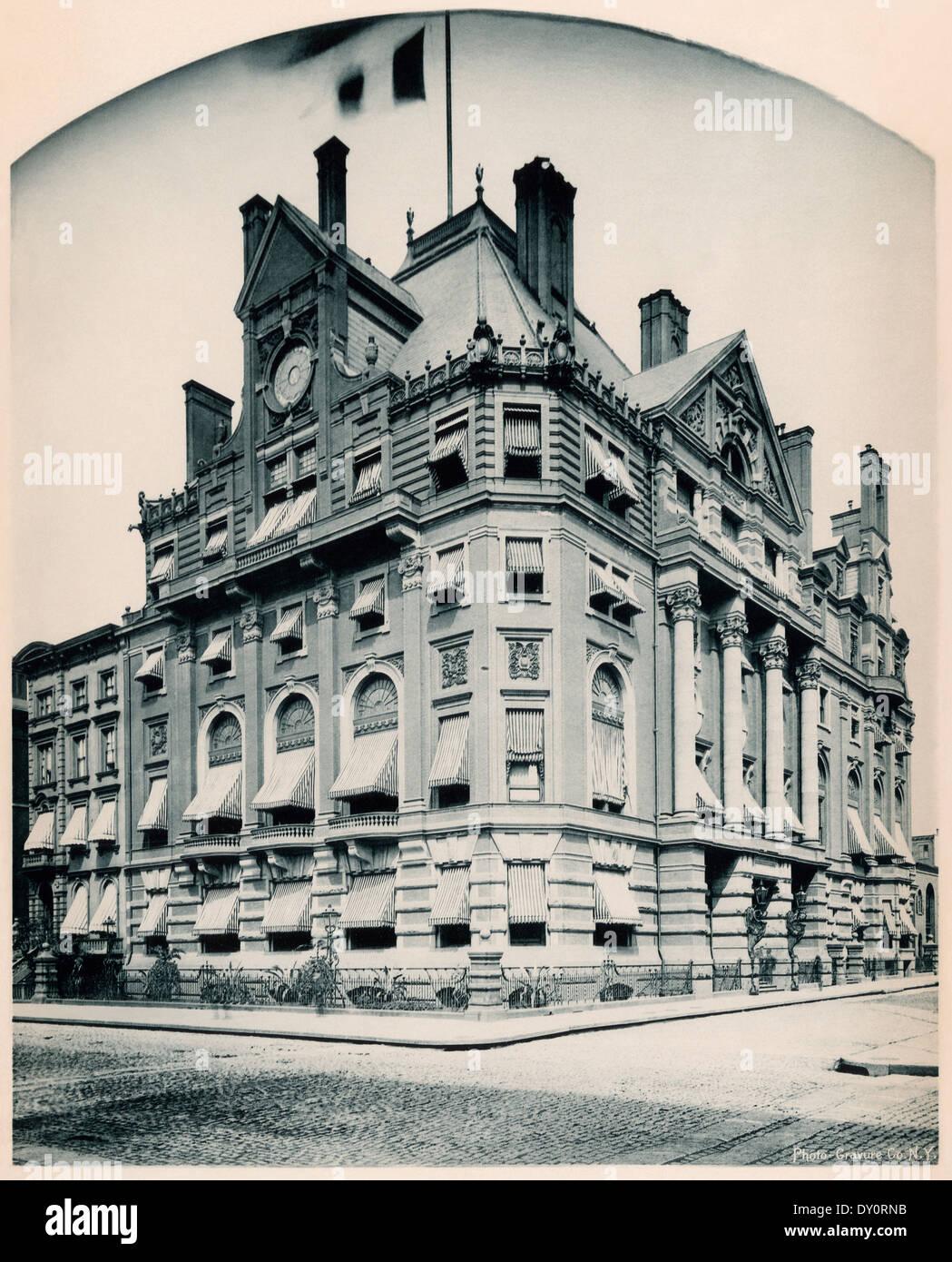 Union League Club-House, New York City, 1880 s. Stockbild