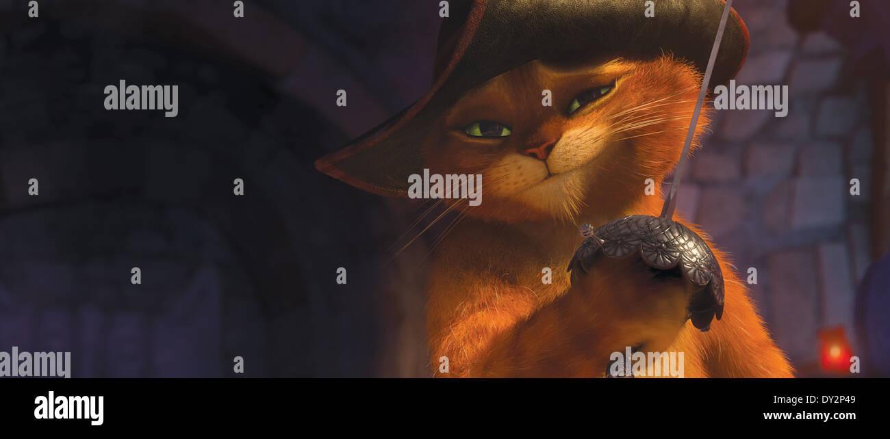 Der legendäre Held Puss In Boots (Antonio Banderas) Sterne in seinem eigenen Film DreamWorks Animation? s PUSS Stockbild