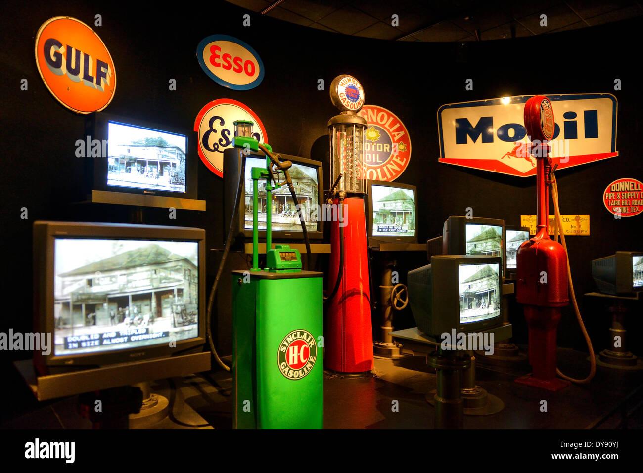 USA, USA, Amerika, Texas, Austin, Heimatmuseum, Öl, Pumpe, Energie, Geschichte, Americana, ausstellen Stockbild