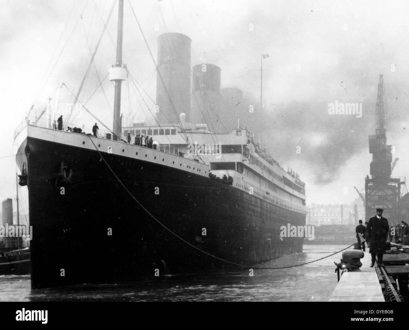 RMS Titanic war ein britisches Passagierschiff, das im Nordatlantik am 15. April 1912 sank Stockbild