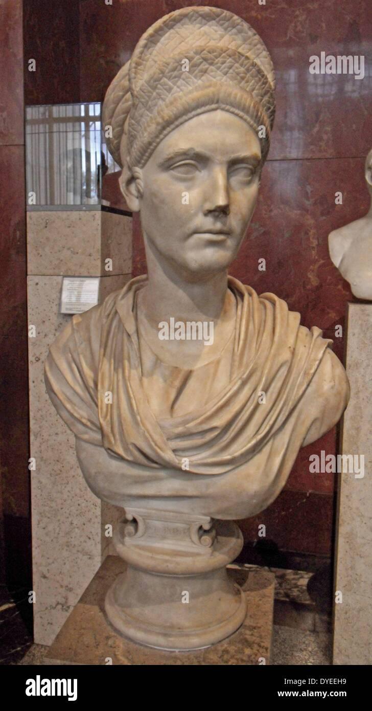 Marmor-Büste von Matidia die Nichte des Kaisers Trajan 87 A.D. Stockbild
