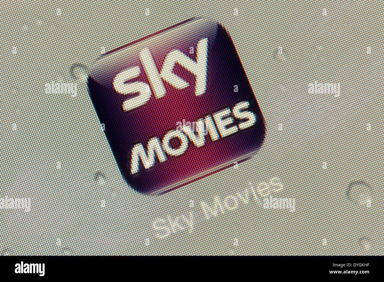 Sky Movies app-Logo-Symbol auf dem iPad Stockbild
