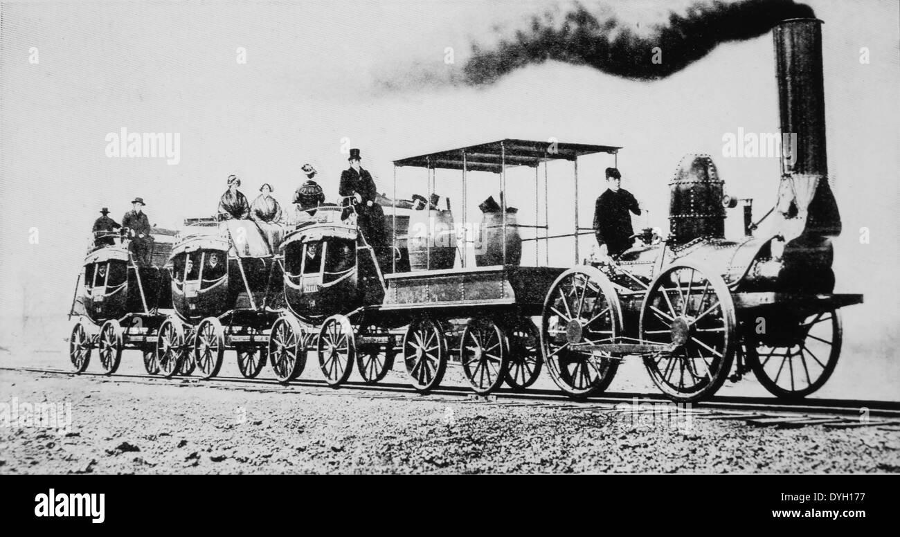 DeWitt Clinton, dritte Lok Zug gebaut in den USA für die eigentliche Dienstleistung auf Eisenbahn, Albany nach Stockbild