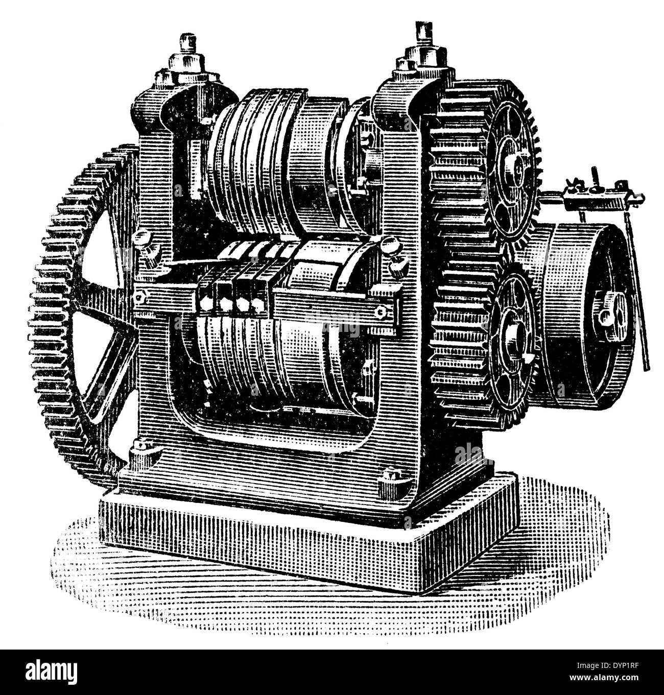 Herstellung von Anlagen, Illustration aus sowjetischen Enzyklopädie, 1927 Stockbild