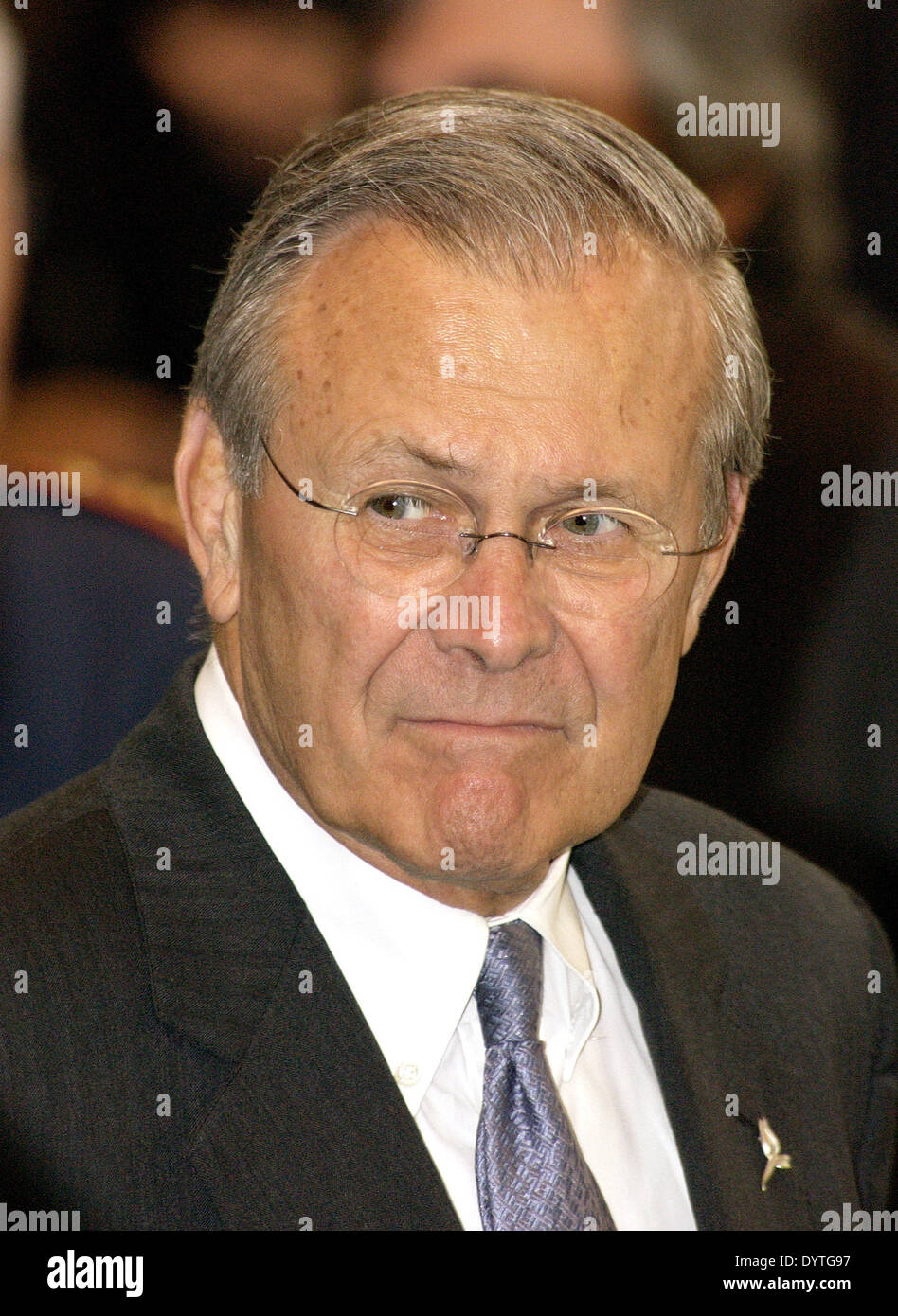 Donald H. Rumsfeld Stockbild