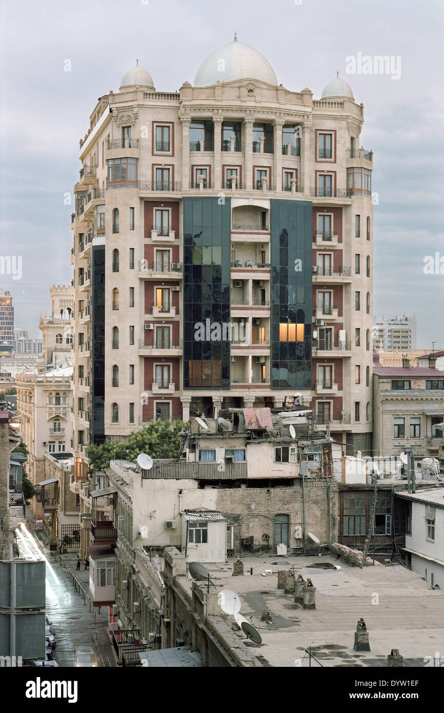 Straßenbild von Baku Stockbild