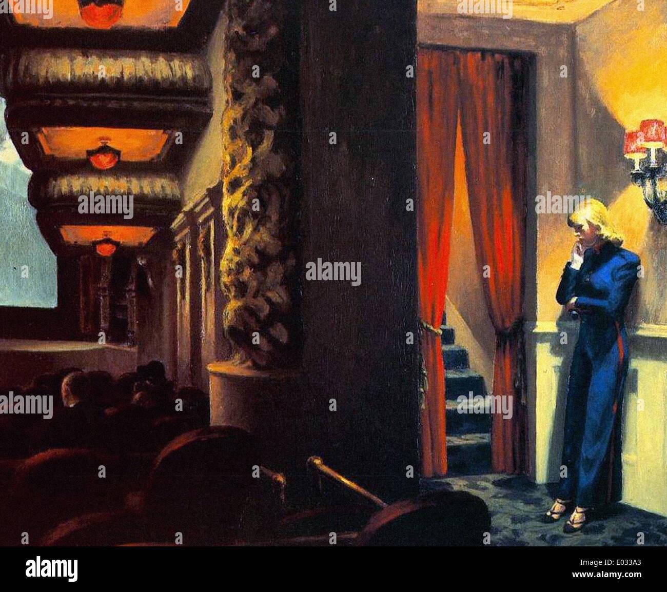 Edward Hopper-New York-Film Stockbild