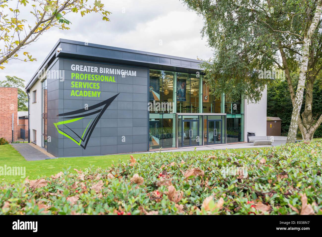 Größere Birmingham Professional Services Akademie, Sutton Coldfield, England, UK Stockbild