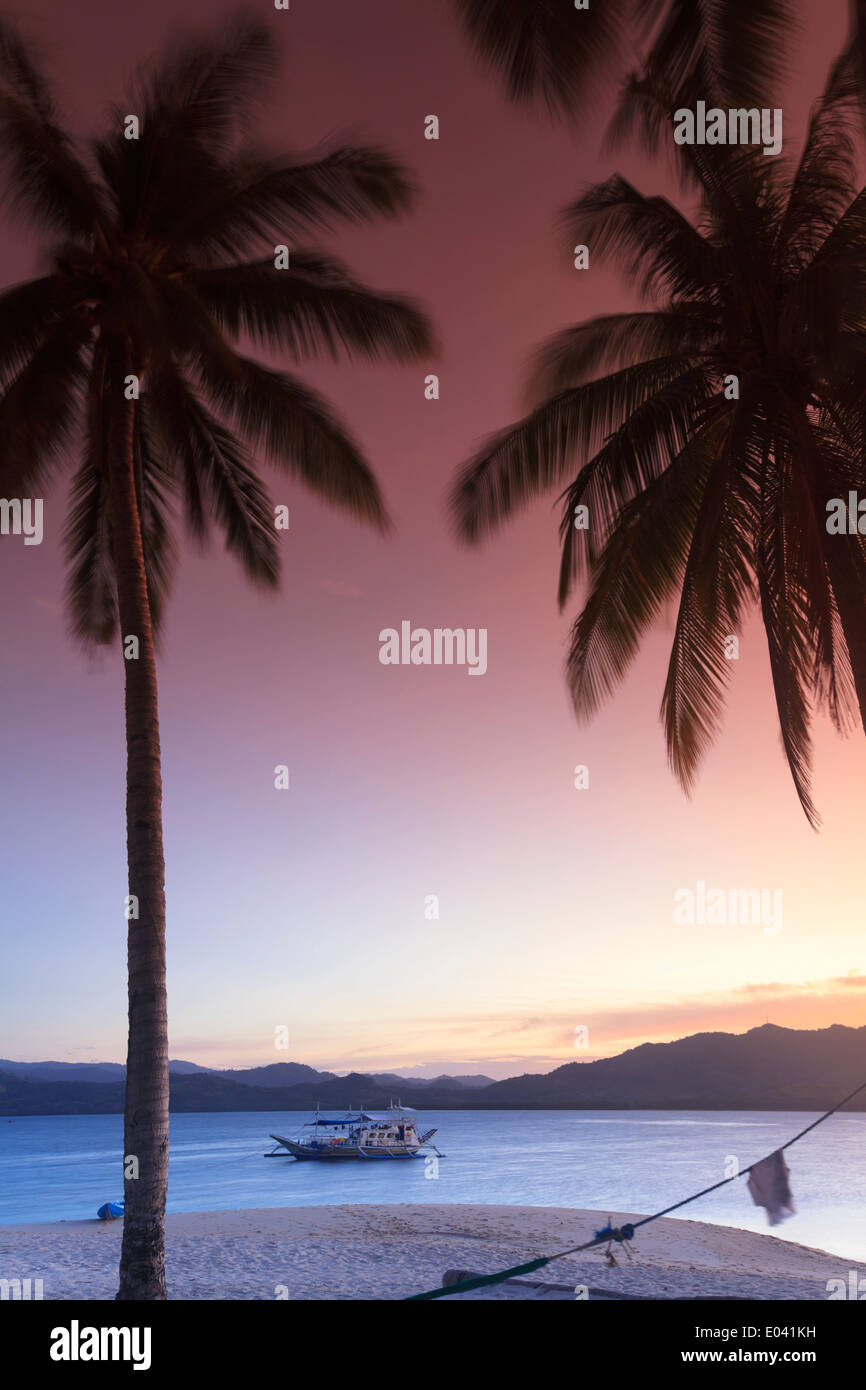 Philippinen, Palawan, Linapacan Group, Daracoton Insel Stockbild
