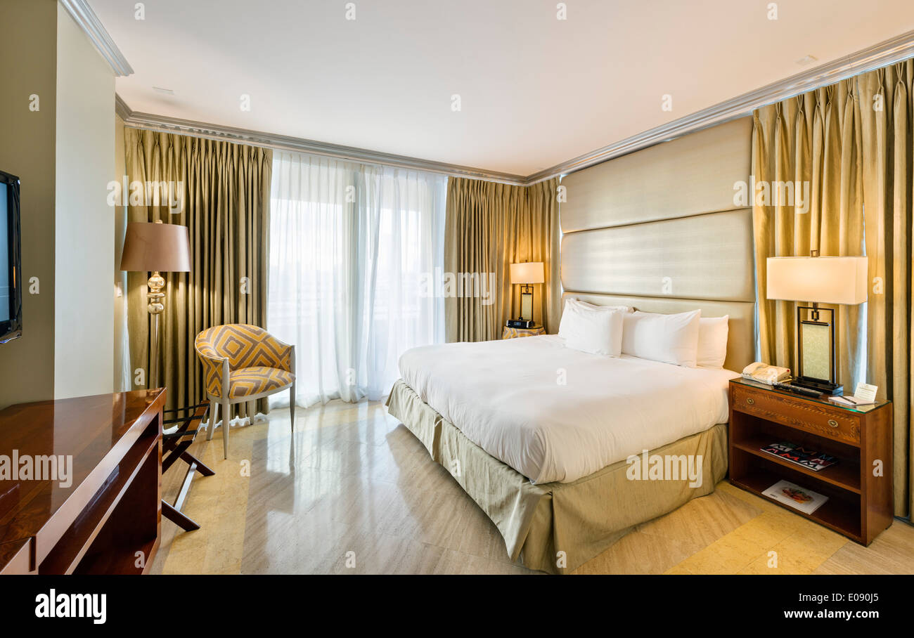 Zimmer im Hilton Bentley Miami/South Beach, Ocean Drive, South Beach, Miami Beach, Florida, USA Stockbild