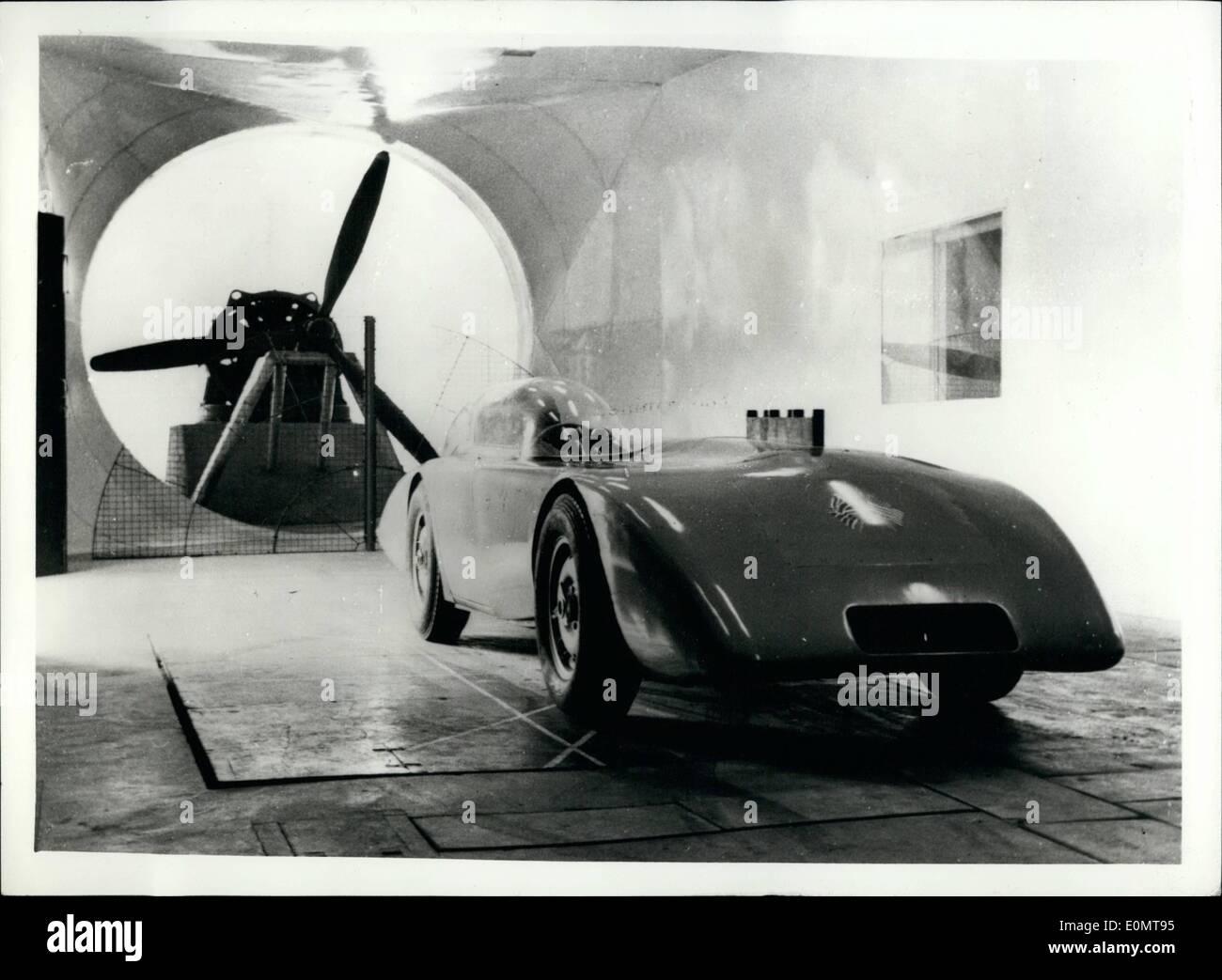 8. August 1956 - Austin Healey übersteigt 200 mph: Es wurde gerade eine angekündigte, Austin Healey Hunderte Stockbild