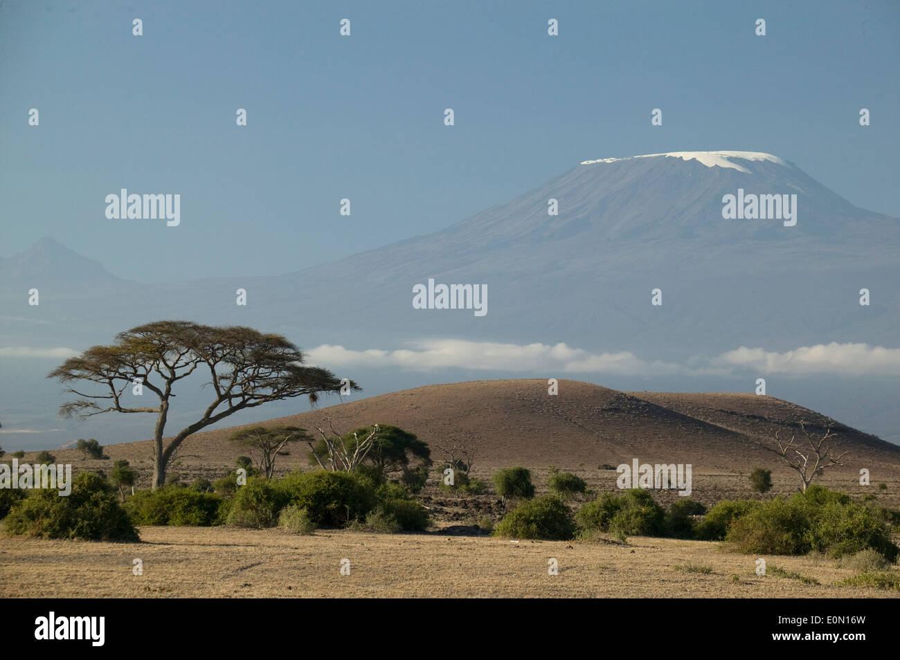 Mount Kilimanjaro Landschaft, Ngorongoro-Nationalpark, Tansania Stockbild