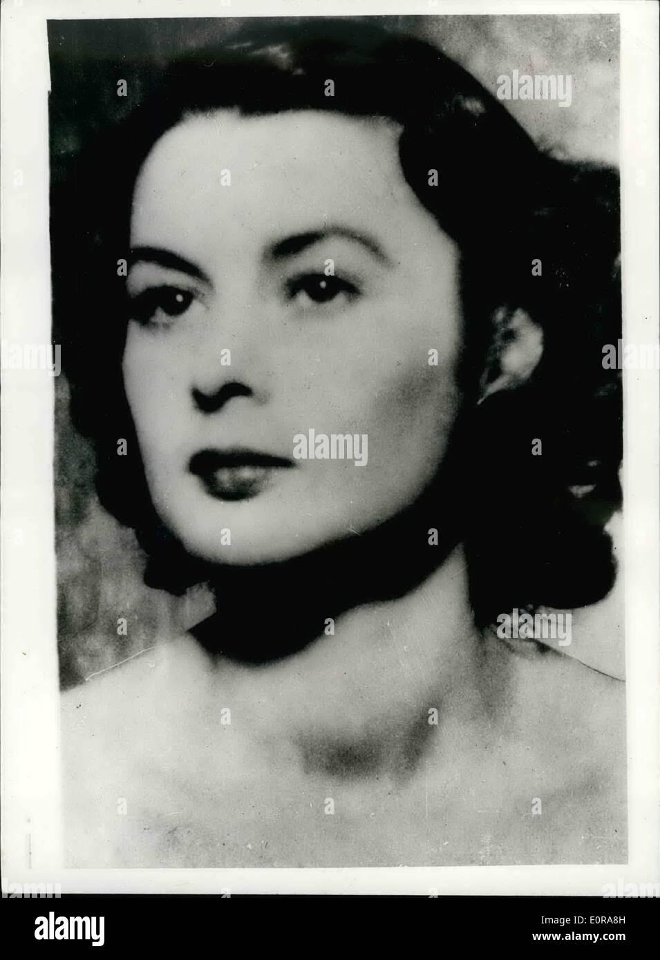 11. November 1958 - Erziehungsbeihilfe verwaiste Tochter des Kriegsheldin in Gefahr, reduziert Fragen im Haus.: Stockbild