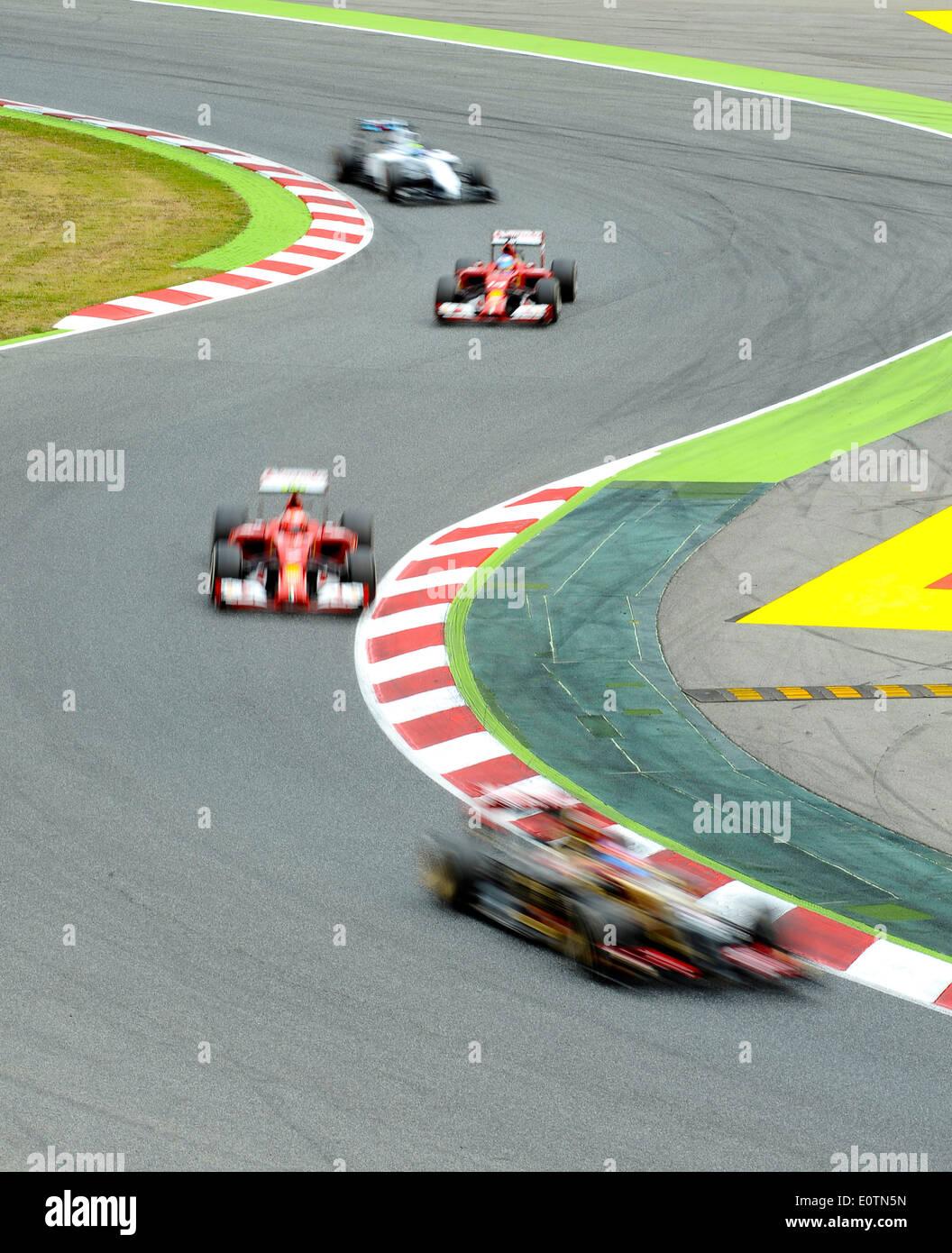 Motorsport-9. bis 11. kann 2014, Circuit de Catalunya, Barcelona, Spanien, zielstrebiger Grand Prix von Spanien Stockbild