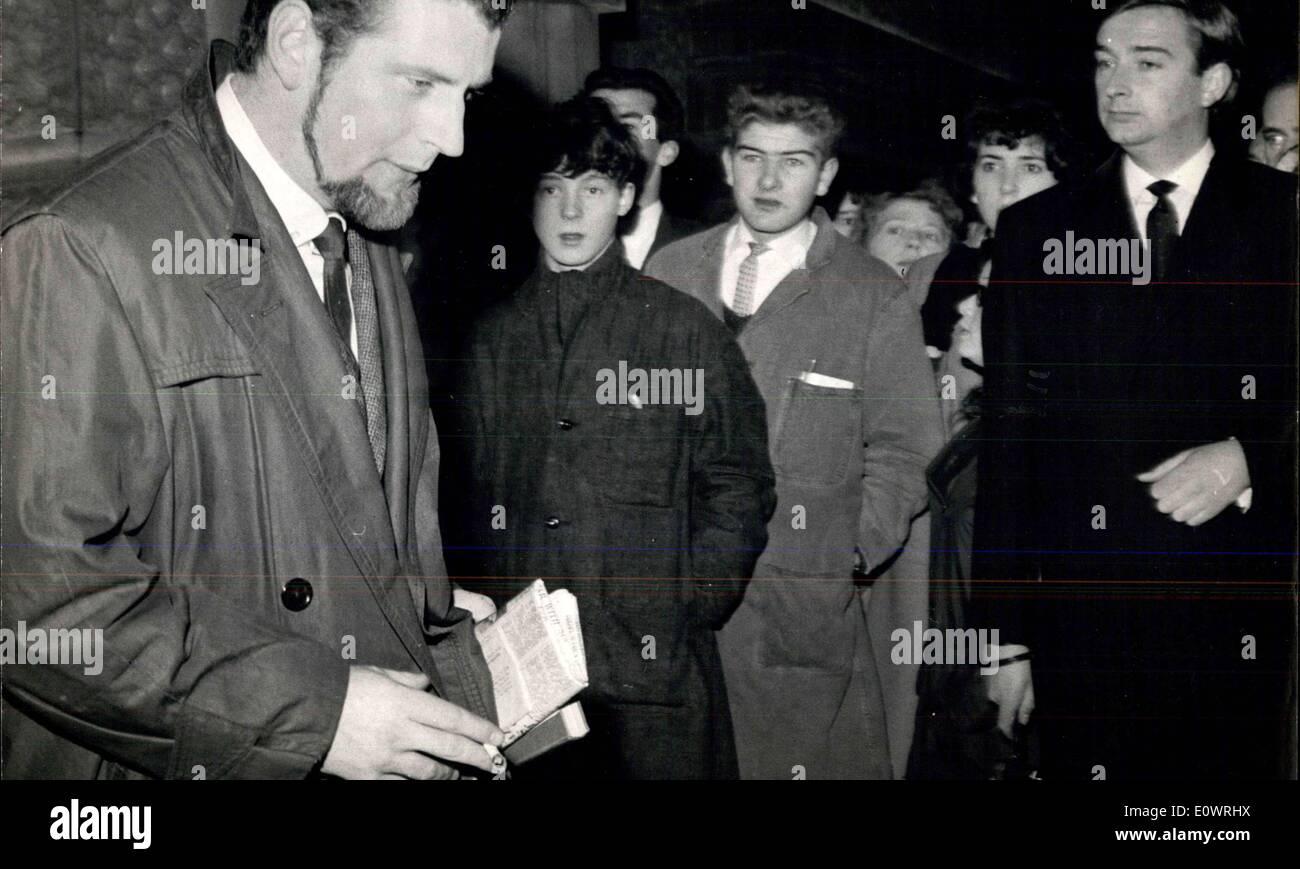 5. Dezember 1963 - Keeler Fall... Paul Mann: Der Fall in dem Christine Keeler und andere beschuldigte sind verschworen, Stockbild