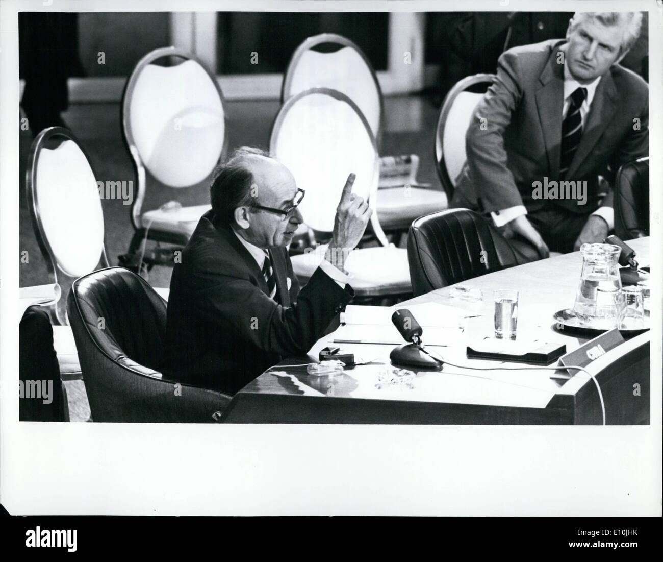 3. März 1973 - Sicherheitsrat hört Aussagen von fünf lateinamerikanischen Außenminister: Der Stockbild